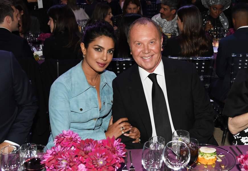 Priyanka Chopra et Michael Kors à la soirée God's Love We Deliver, Golden Heart Awards.
