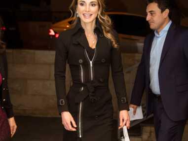 Rania de Jordanie chic en noir à Amann