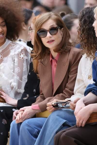 Isabelle Huppert au défilé Chloé