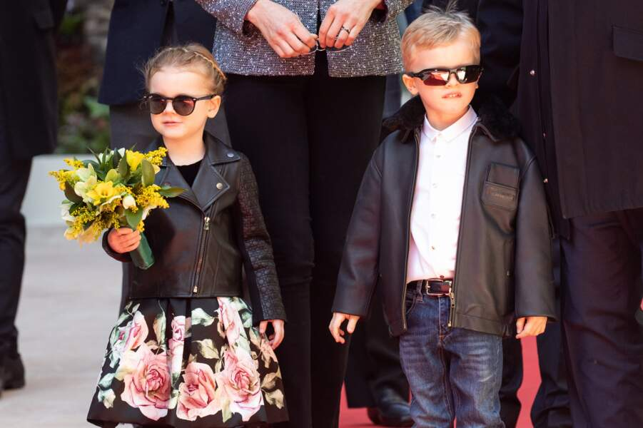 La petite princesse était allitée, alors que Monaco célébrait sa sainte patronne, ce 27 janvier