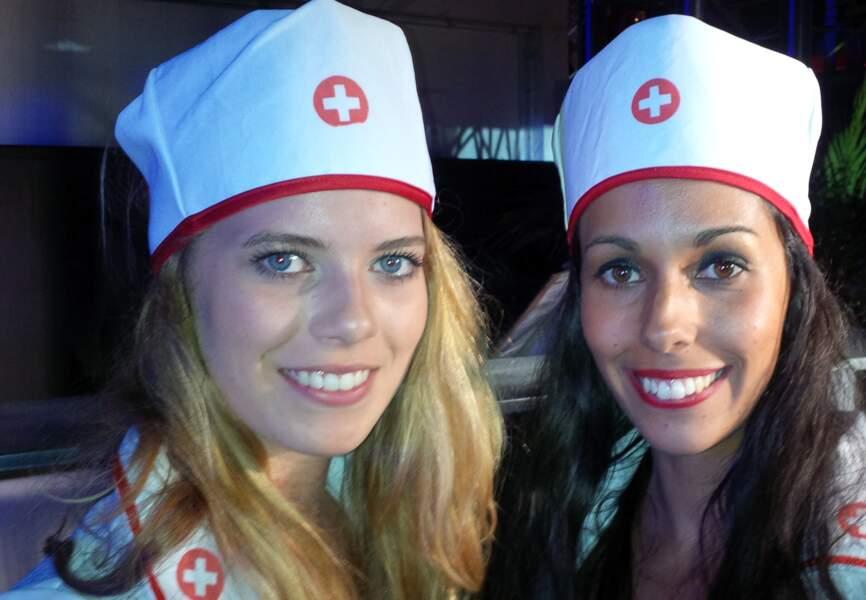 Les hôtesses déguisées en infirmières