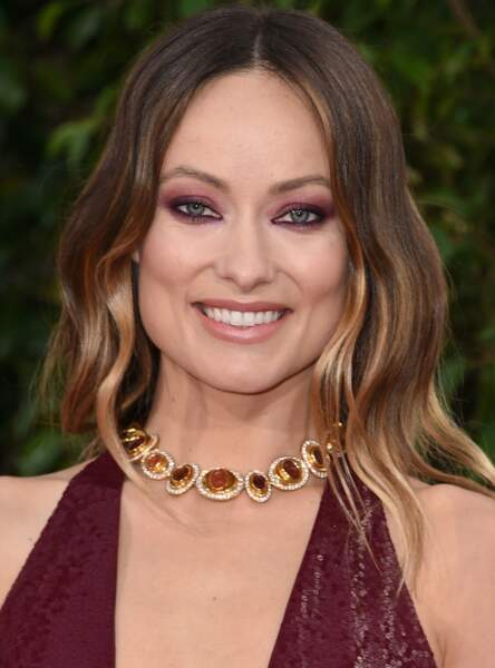 Le make up violine d'Olivia Wilde