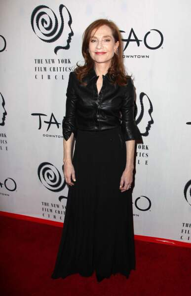 Isabelle Huppert sur le tapis rouge des New York Film Critics Circle Awards