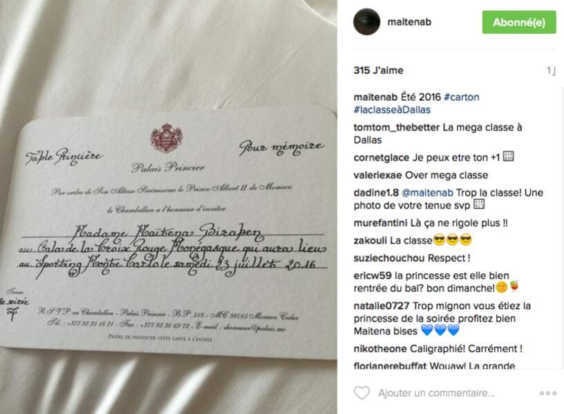 Le carton d'invitation de Maïtena Biraben