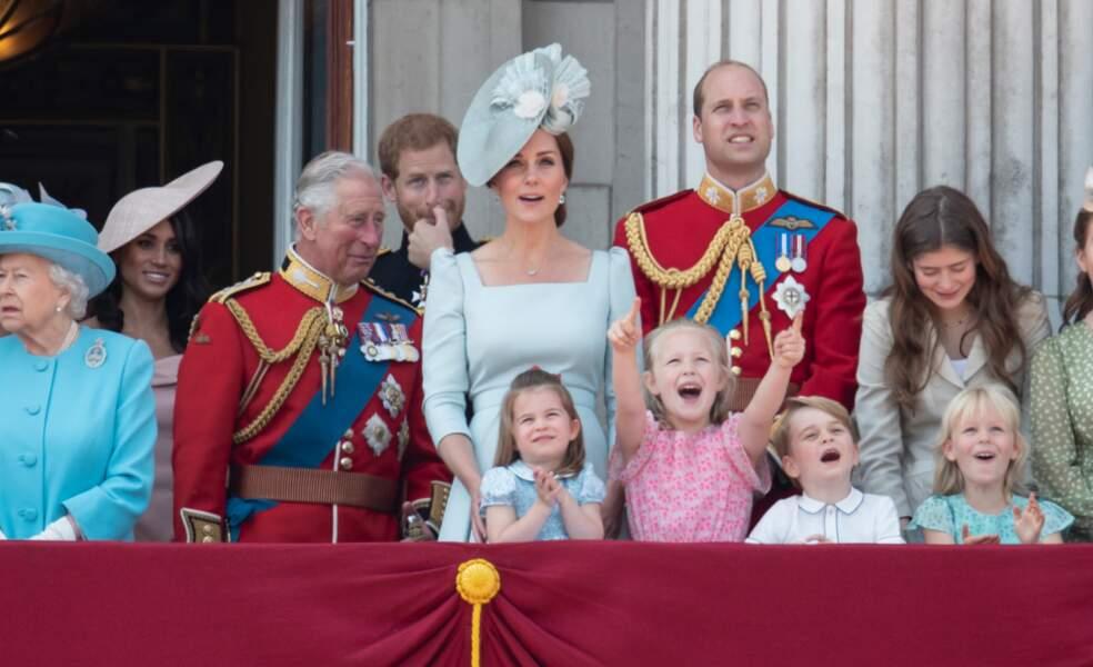 La famille royale le 9 juin 2018