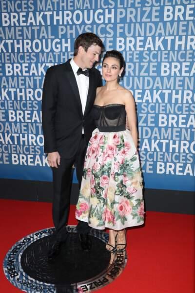 Ashton Kutcher et Mila Kunis à la 6ème cérémonie Breakthrough Prize le 3 décembre 2017