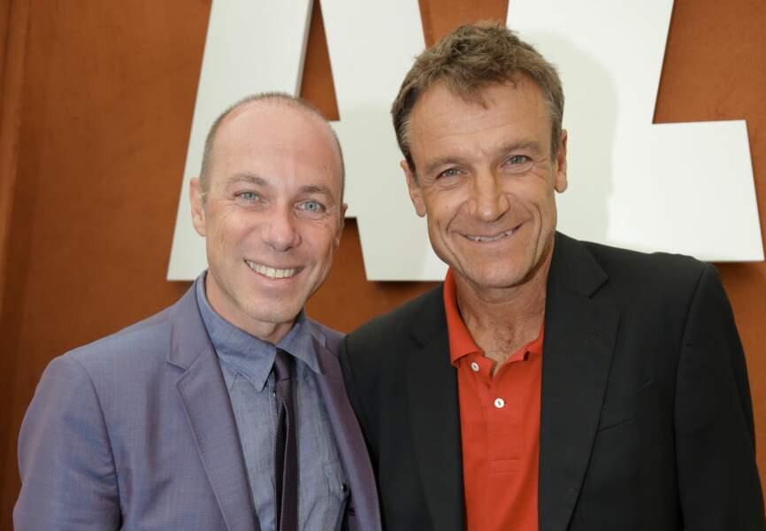 Giuseppe Lavazza et Mats Wilander