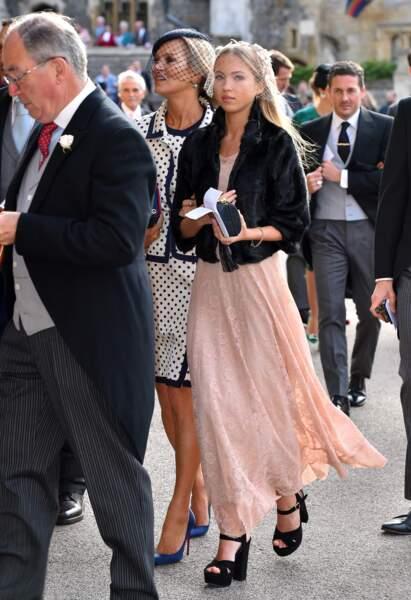 Kate Moss et sa fille Lila Grace  au mariage d'Eugénie d'York