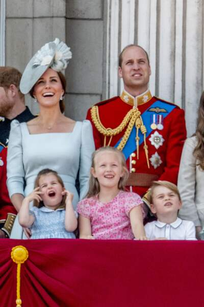Kate Middleton, le prince William, la princesse Charlotte, Savannah Phillips et le prince George
