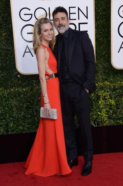 Jeffrey Dean Morgan et sa femme Hilarie Burton en janvier 2017