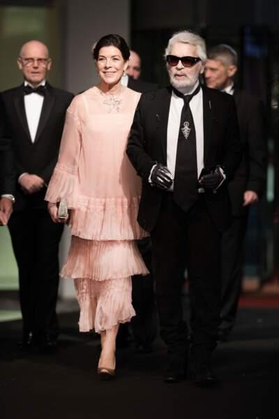 Caroline de Monaco et Karl Lagerfeld au Bal de la Rose, en 2018