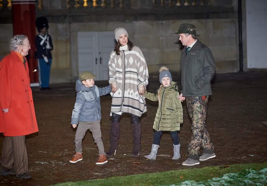La famille royale du Danemark a assisté à la traditionnelle chasse au château de Fredensborg, le 22 novembre 2016