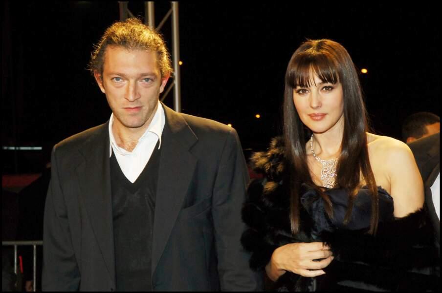 Monica Bellucci et Vincent Cassel au festival de Marrakech en 2005