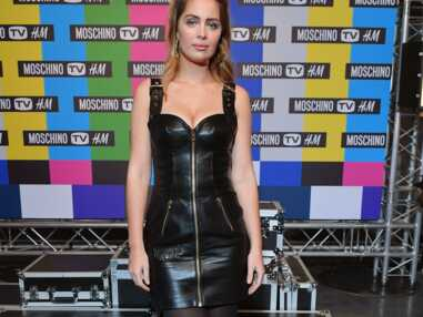 PHOTOS - Marie-Ange Casta ultra sexy en robe bustier en cuir lors de la soirée de lancement de la collection Moschino x H&M