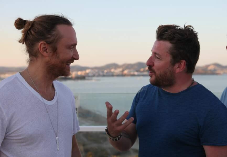 David Guetta et Bruno Guillon