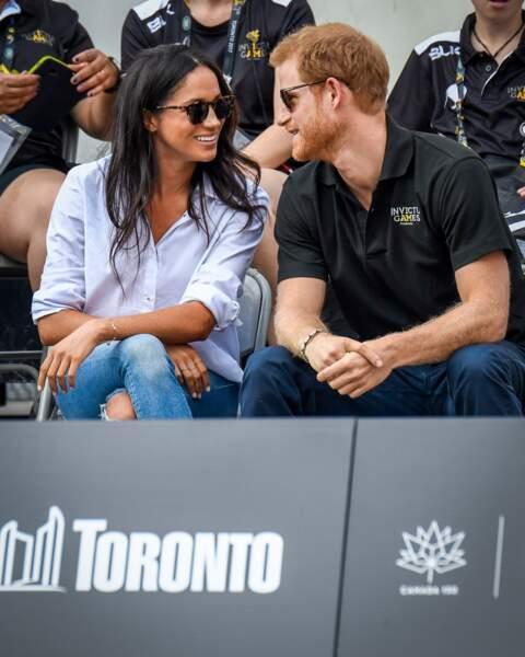 Meghan et Harry font leur première apparition officielle aux Invictus Games de Toronto le 25 septembre 2017