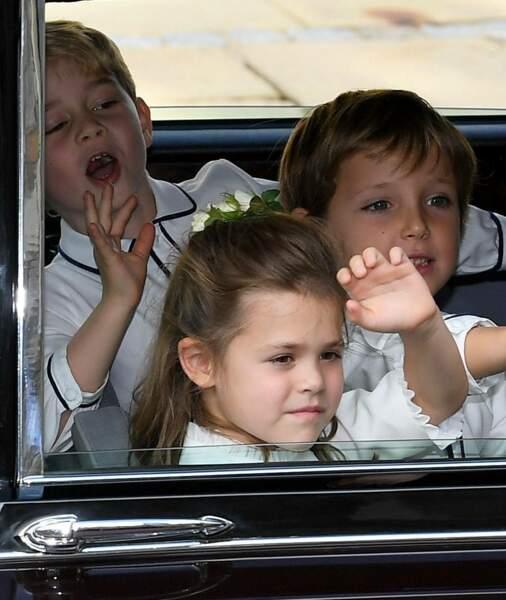 Le prince George après la cérémonie de mariage d'Eugénie d'York, le 12 octobre 2018