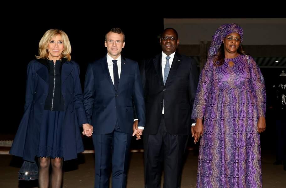 Emmanuel et Brigitte Macron au Sénégal