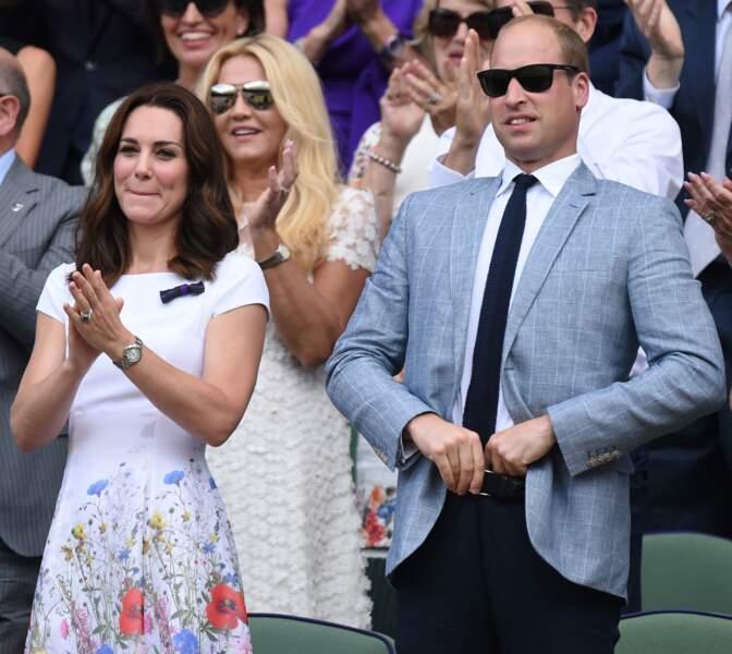 Kate Middleton et le prince William à Wimbledon ce dimanche 16 juillet