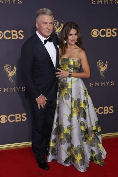 Alec et Hilaria Baldwin à la 69ème cérémonie des Emmy Awards à Los Angeles, le 17 septembre 2017.