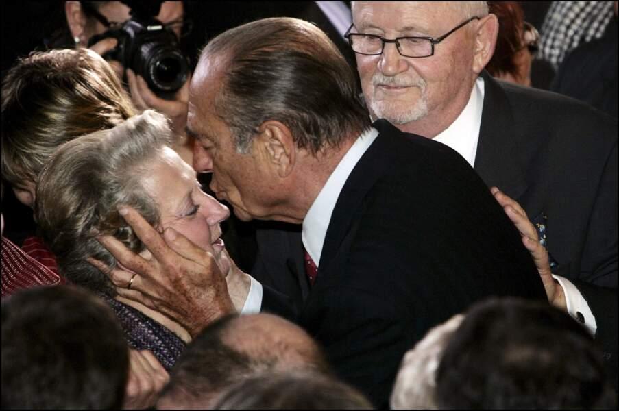 Le président Jacques Chirac après avoir présenté ses voeux de Nouvel An, en Corrèze, à Tulle, le 7 janvier 2007.