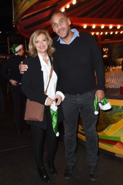 Valérie Trierweiler et Romain Magellan à la soirée Secours Populaire fête Noêl pour 300 enfants