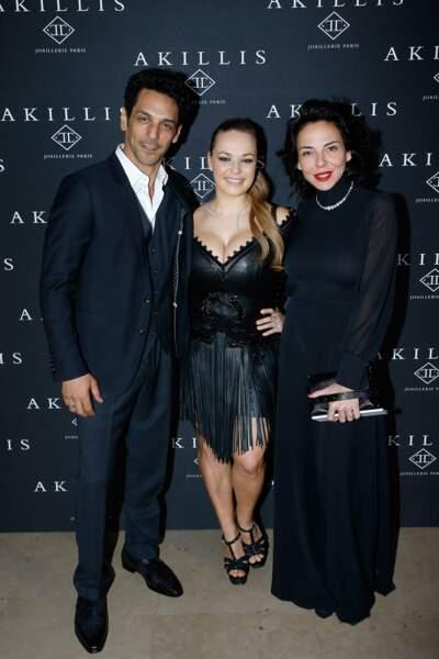 Tomer et Sandra Sisley entourent Caroliine Gaspard, la créatrice d'Akillis