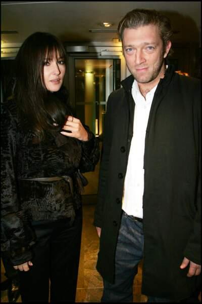 Monica Bellucci et Vincent Cassel à la première de Hannibal Lecter, en 2007