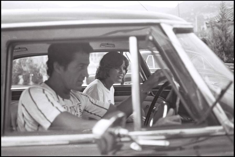 Caroline de Monaco et son premier mari Philippe Junot, à Monaco, en août 1976