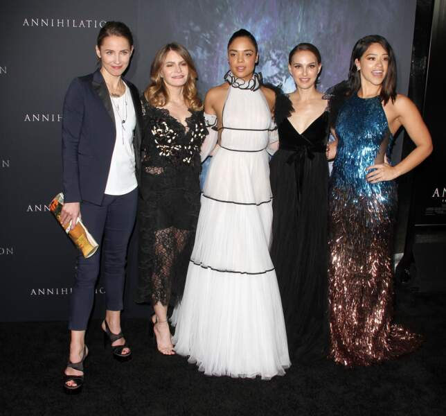 Tuva Novotny, Jennifer Jason Leigh, Tessa Thompson, Natalie Portman, Gina Rofriguez à la première de 'Annihilation'