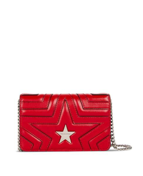 Superstar, mini sac matelassé étoile, 750 € (Stella McCartney).
