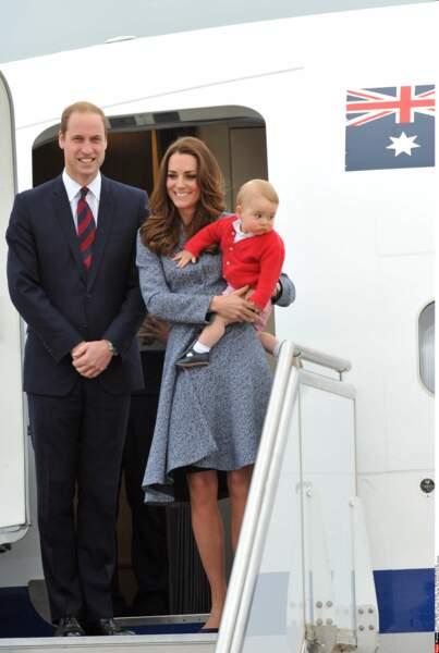 Prince George avec ses parents, en visite en Australie et en Nouvelle-Zélande (22 avril 2014)