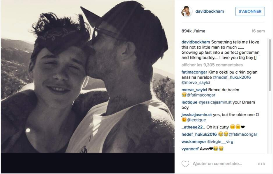Encore un gros bisou du papa-poule David Beckham