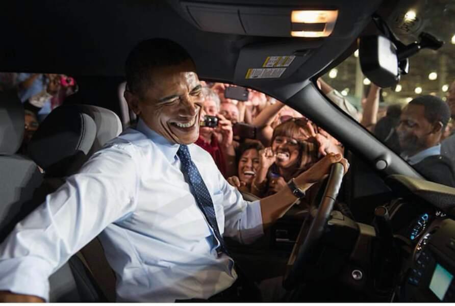 Barack en plein fou rire