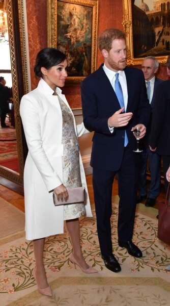Meghan Markle et le prince Harry à Buckingham Palace pour une réception en l'honneur du prince Charles