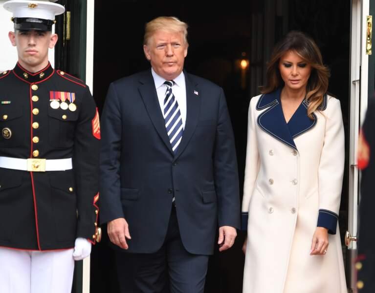Melania Trump et Donald Trump, à la Maison Blanche, le 18 septembre 2018