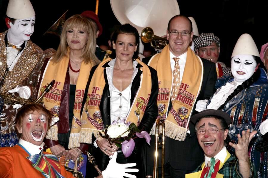 Au Festival de Cirque de Monte Carlo avec la Princesse Stéphanie et le Prince Albert II, en 2007.