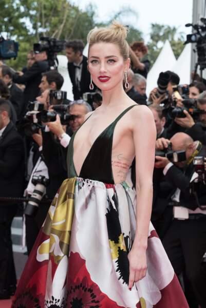 Amber Heard, bijoux de Grisogono et robe Valentino