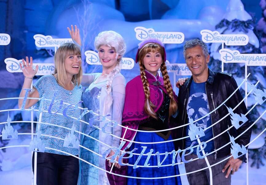 Nagui, sa compagne Mélanie, Anna et Elsa