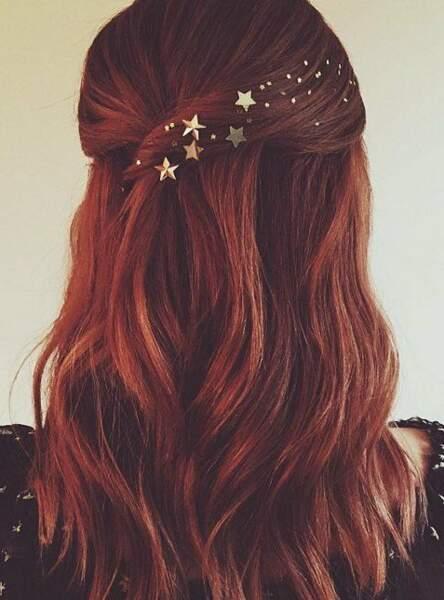 Des étoiles pour faire scintiller une coiffure