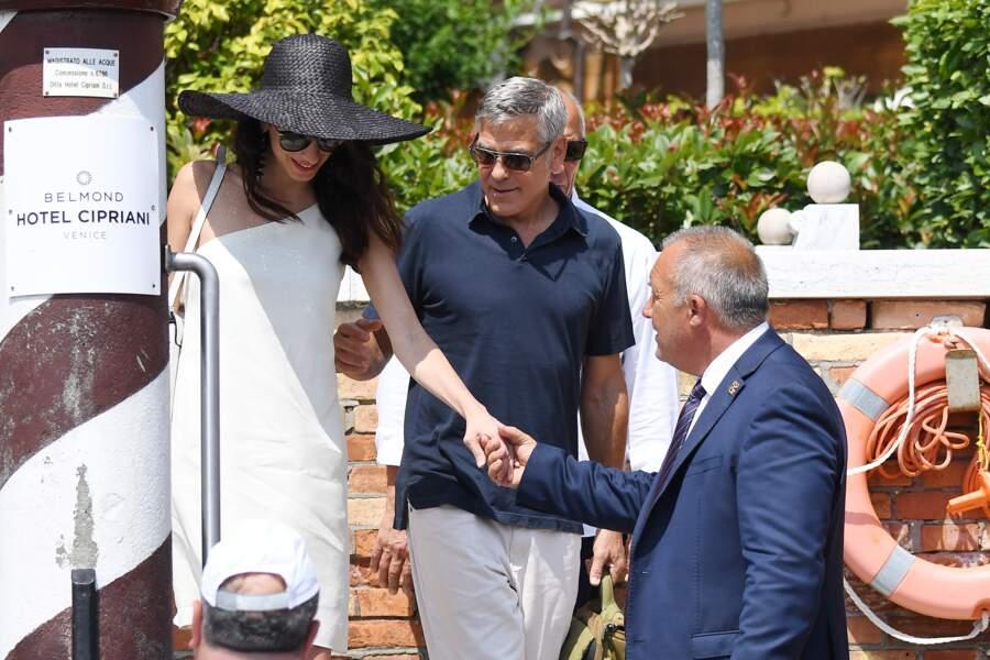 Amal Clooney était ravissante à Venise, ce jeudi 27 juin