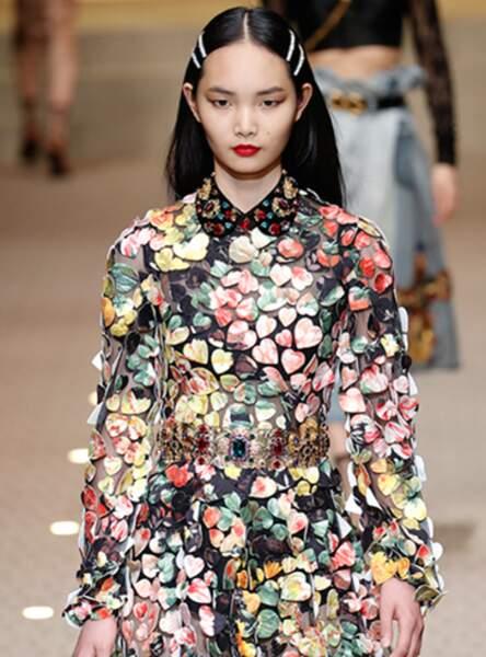 La barrette diamant comme sur le défilé Dolce and Gabbana 2018