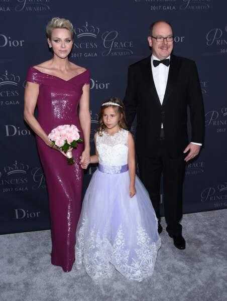 "Le prince Albert II de Monaco et la princesse Charlène de Monaco au au gala ""Princess Grace Awards 2017"""