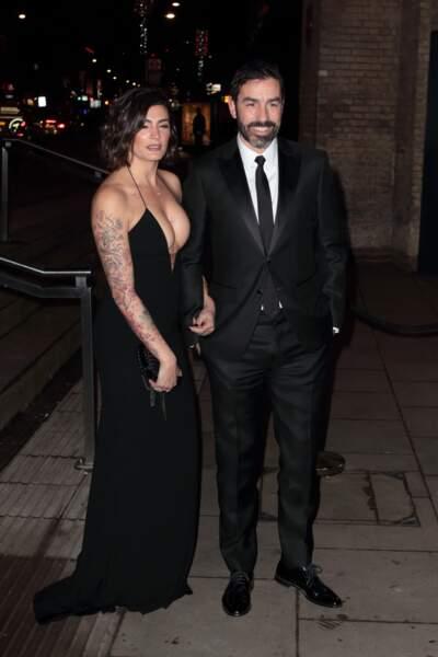 L'ancienne légende d'Arsenal Robert Pires et sa femme Jessica, à Londres, le 18 février 2019.