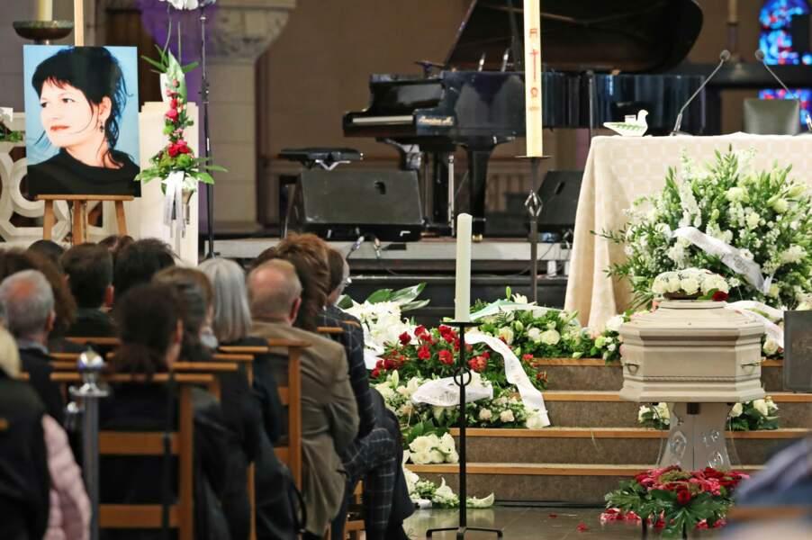 cérémonie religieuse en hommage à Maurane à l'eglise Notre-Dame des Graces