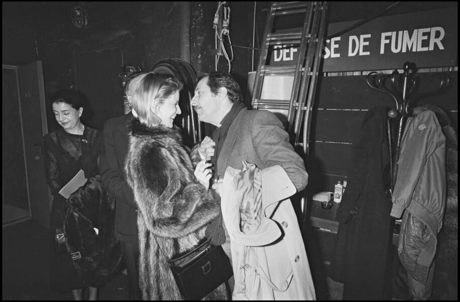Jean Rochefort et Nicolas Garcia en 1982