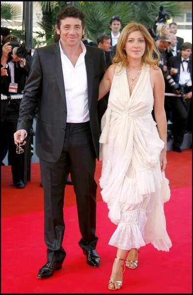 Patrick Bruel et Amanda Sthers lors de la montée des marches du festival de Cannes, en 2007