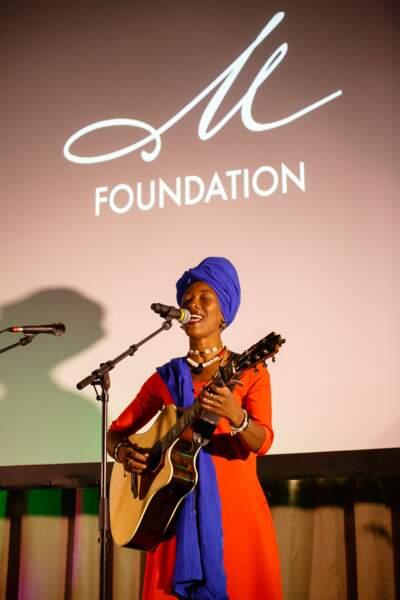 Fatoumata Diawara a offert un showcase exclusif aux convives