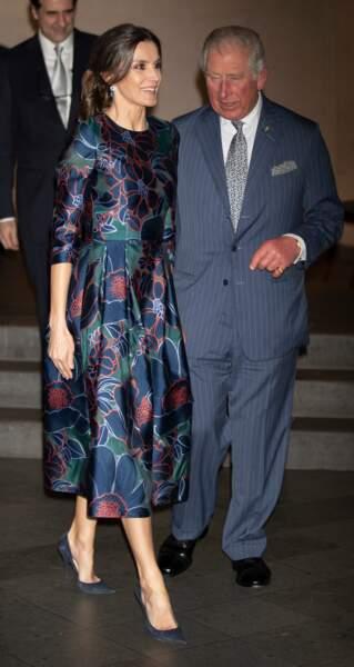 Le prince Charles et la reine Letizia d'Espagne étaient à la National Gallery de Londres