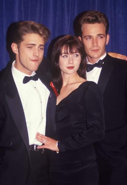 Jason Priestley, Shannen Doherty et Luke Perry à Los Angeles en 1993